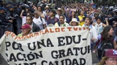 Los docentes han encabezado diversas movilizaciones en contra de las ref...