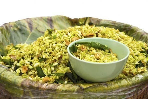 Y para variar un poco el sabor del arroz, aquí tienes uno verde que en l...