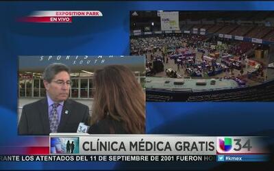 Gigantesca clínica de salud gratis en LA