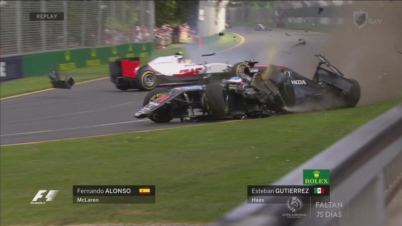Impresionante accidente de Fernando Alonso que sale vivo de milagro