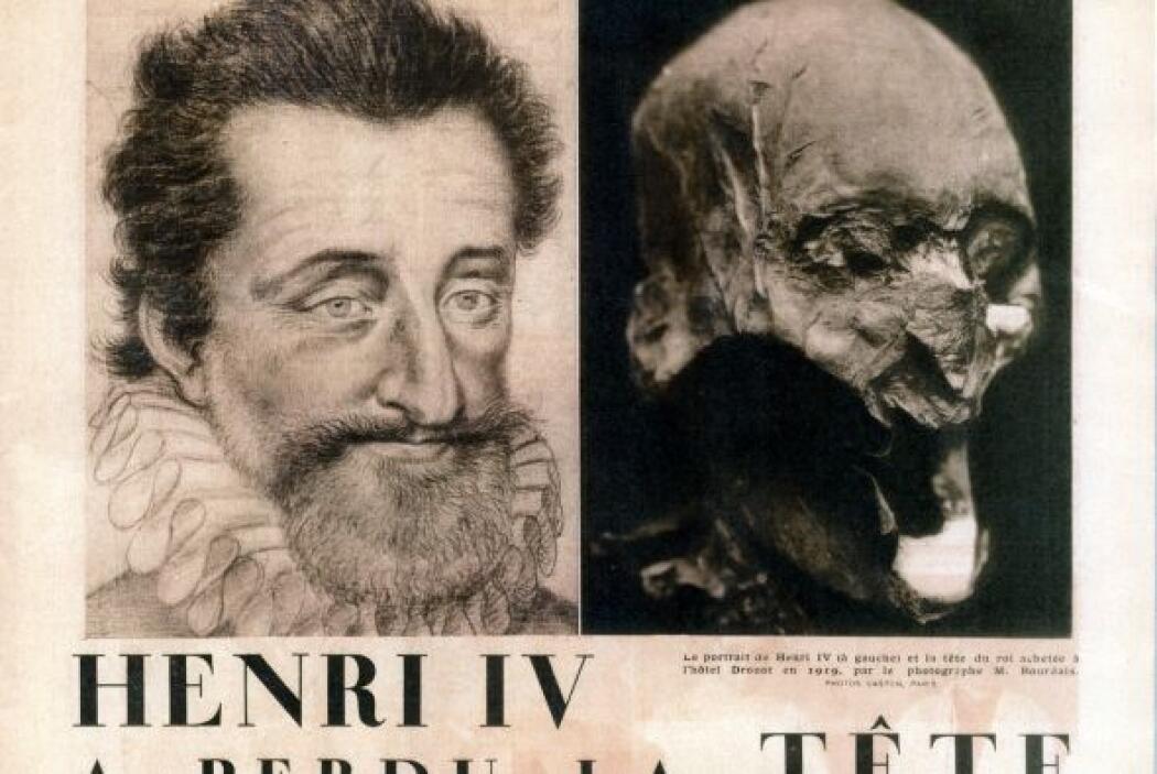 Investigadores franceses identificaron  la cabeza del rey de Francia Enr...