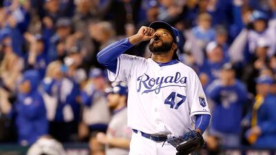 Johnny Cueto ganó la Serie Mundial con Kansas City