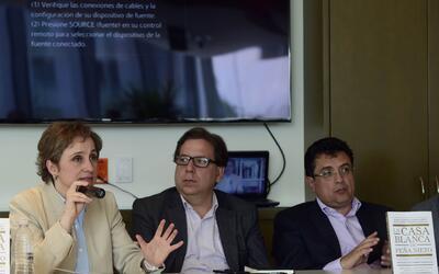Carmen Aristegui, Ricardo Cayuela y Daniel Lizárraga.