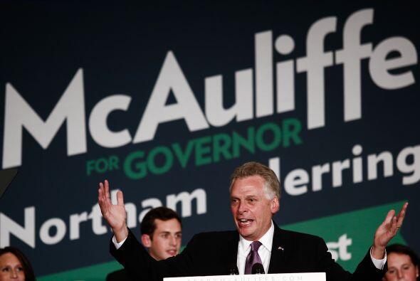 El demócrata Terry McAuliffe ganó las elecciones a goberna...