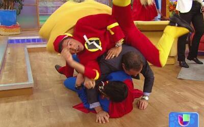 Alan enfrentó la furia de los Superhéroes