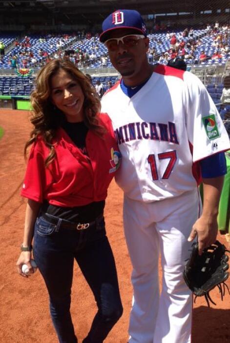 Y con la estrella de los Texas Rangers, Nelson Cruz, se nota que Lourdes...