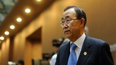 """El titular de la ONU refirió que está """"alarmado"""" por los informes sobre..."""