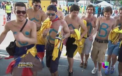 La selección colombiana contagió de fiebre amarilla a sus fans en Brasil