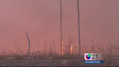Fuego forestal se acerca a área residencial