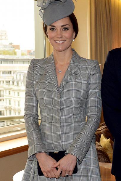 Con esta carita de felicidad, la duquesa de Cambridge compartió al mundo...