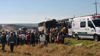 El autobús había partido de la ciudad de Belén, en el estado de Pará, y...