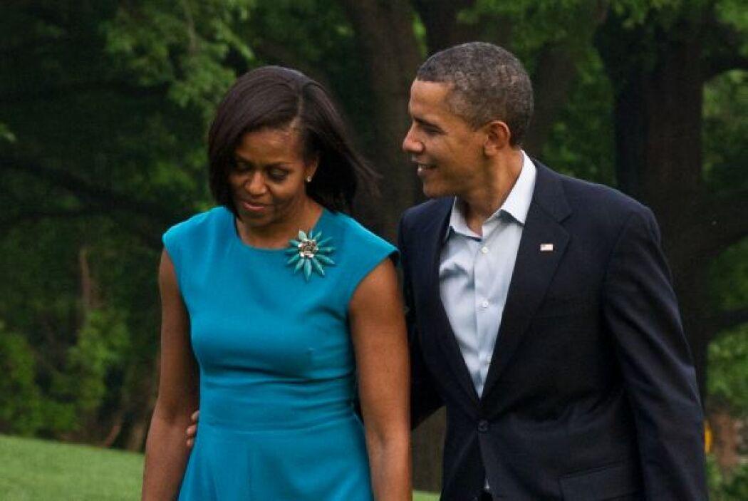 Para Barack fue amor a primera vista. Todo el verano le insistió a Miche...