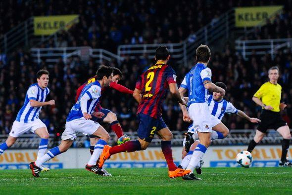 Parecía que el Barcelona reaccionaba y apenas dos minutos después Messi...