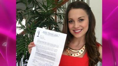 Ligia de Uriarte ya tiene su carta de aceptación para Miss Texas.