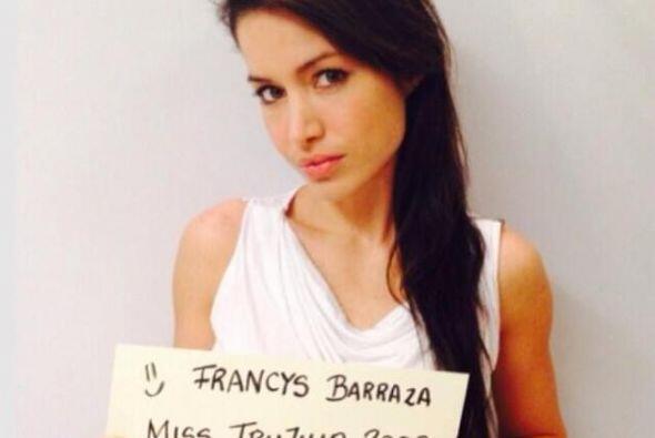 Francys Barraza, Miss Trujillo 2013, también pide la paz para Ven...
