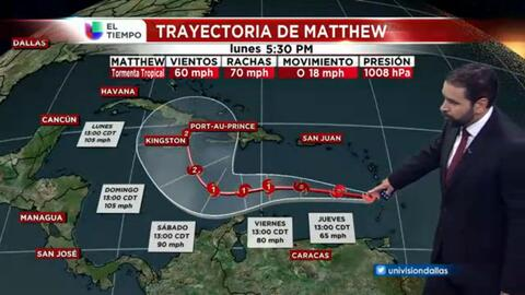 El tiempo: tormenta tropical Matthew