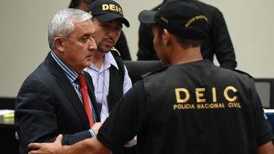 Pérez Molina pasará la noche en cárcel de Matamoros