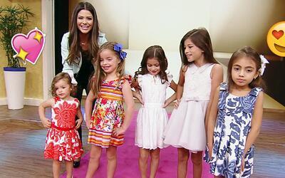 Pequeñas bellezas nos desfilaron la primera colección de vestidos infant...