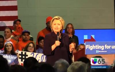 Hillary Clinton, de gira por New Jersey
