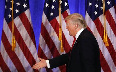 En su primera rueda de prensa el pasado miércoles, Trump catalog&...
