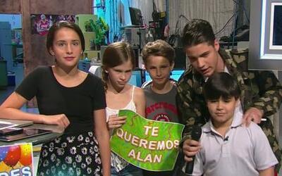 Los hijos de Alan Tacher se tomaron la 'selfie'