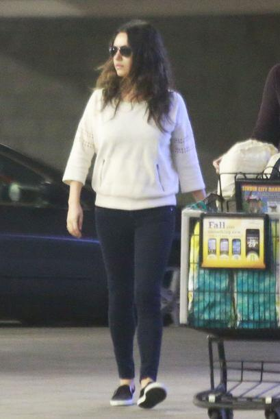 Los paparazzi la encontraron de compras.