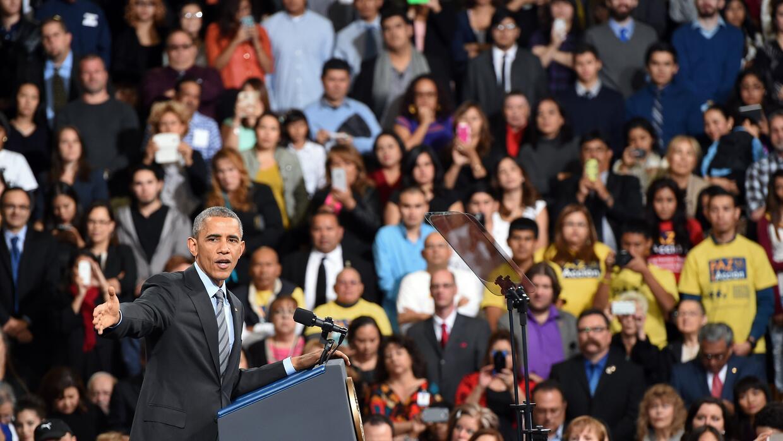 21 de noviembre de 2014. El presidente Barack Obama explica en una escue...