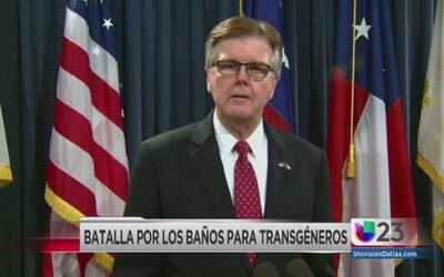 Patrick critica uso de baños por transgénero en Fort Worth