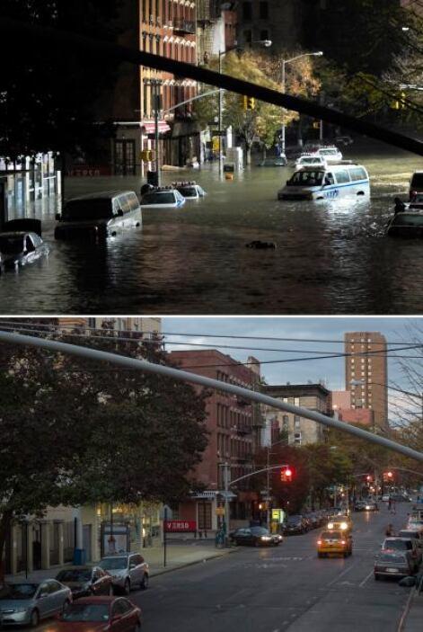 La región de Nueva York se recupera lentamente del paso arrasador del hu...