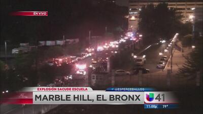 Explosión sacude escuela en El Bronx