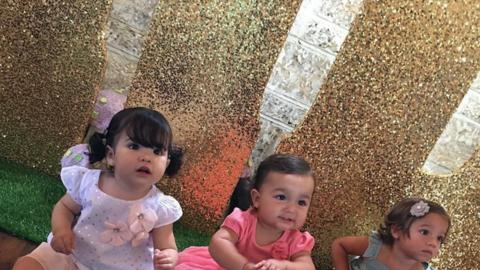 Sofía cumplió su primer año rodeada de sus familiar...