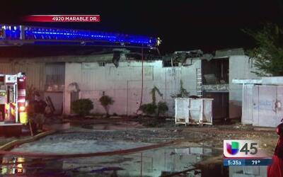Apartamentos vacíos se incendiaron