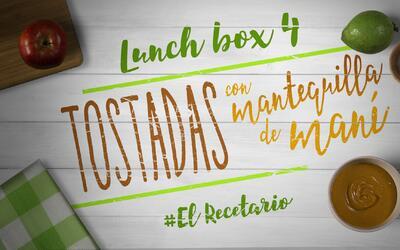 Tostadas con mantequilla de maní (Día 4) - 23 ideas para lunch boxes #El...