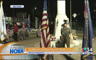 Montan guardia de 24 horas en Boyle Heights para recordar a los caídos