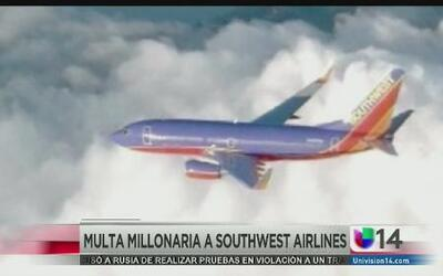 Multa millonaria a Southwest Airlines
