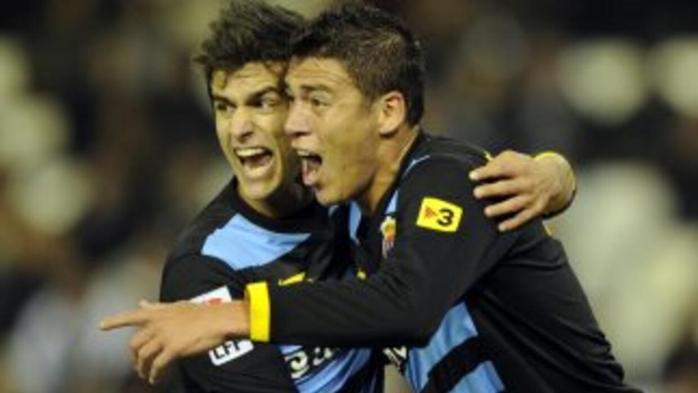 Moreno abrió el marcador en la goleada de los 'Periquitos'.