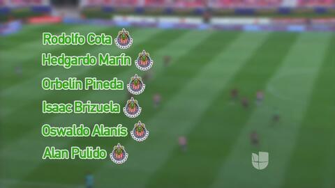 La selección mexicana se pintó de rojo y blanco con seis convocados de C...