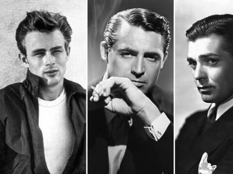 James Dean, Cary Grant y Clark Gable están entre los galanes que...