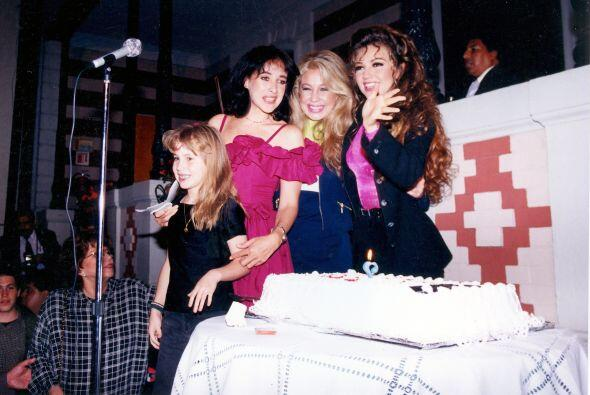 Desde muy joven Thalía convivía mucho con sus hermanas, Er...