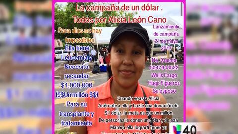 Voluntarios realizan una campaña para ayudar a una madre hispana con leu...