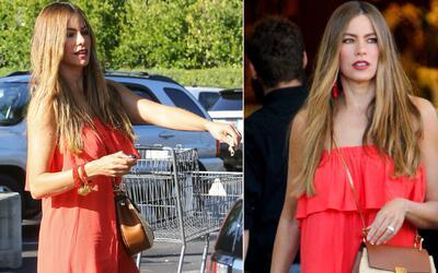 Sofía Vergara se viste a la moda, hasta para ir al supermercado