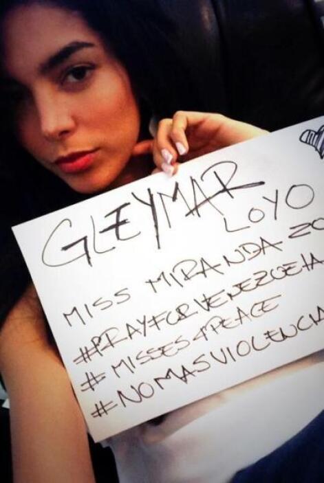 Gleymar Loyo, Miss Miranda, se unió a la campaña. Fotografía tomada de T...