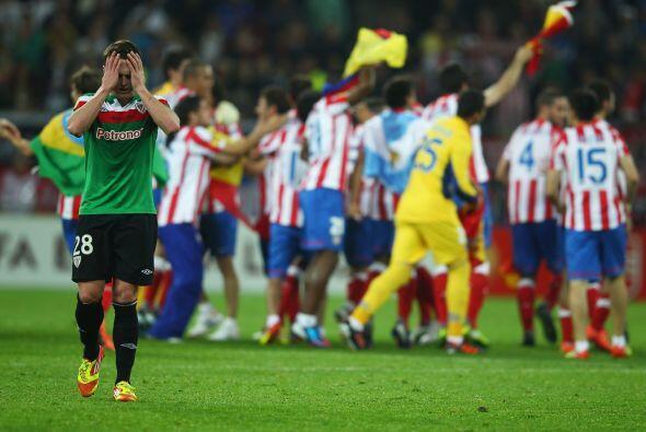 El festejo fue del Atlético en Bucarest.