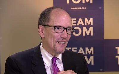 """El nuevo presidente del Partido Demócrata Nacional Tom Pérez: """"Quiero tr..."""
