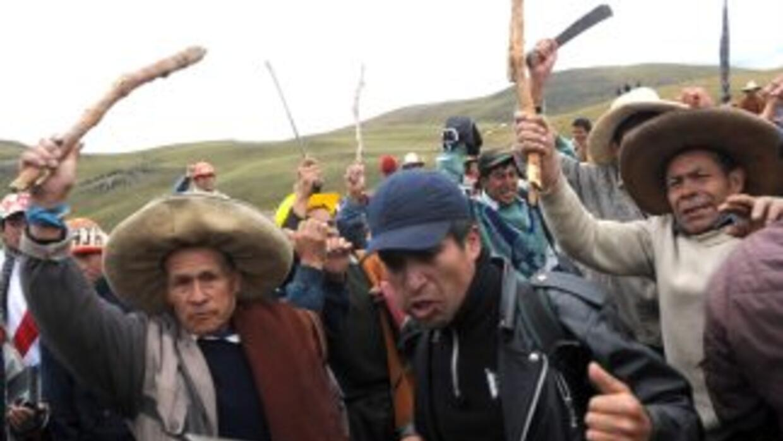 Las autoridades de Cajamarca rechazan el proyecto minero Conga.