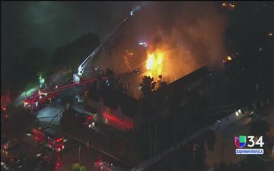 Se registra un incendio en un hotel en San Bernardino