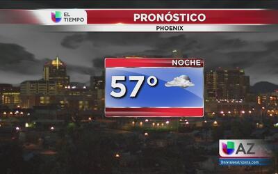 Temperaturas agradables en Phoenix