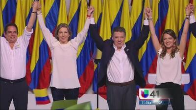 Revalida Juan Manuel Santos en la segunda vuelta de las elecciones colom...