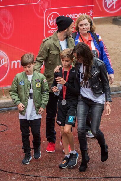 Romeo ya tenía su medalla por participar en el evento.