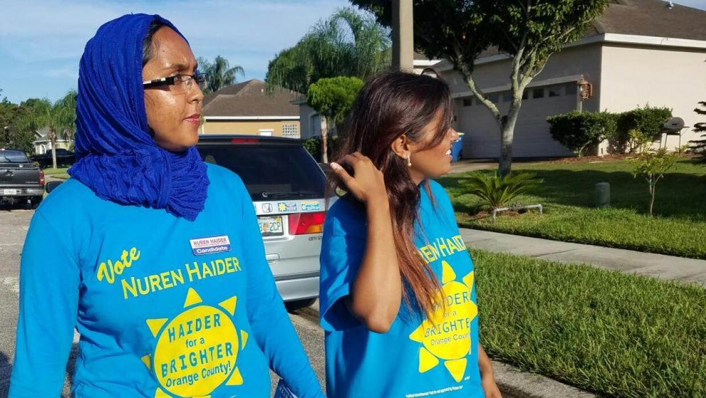 La candidata musulmana de Orlando que desafía la islamofobia puerta a pu...